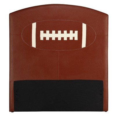 Image of All Star Football Twin Upholstered Kids Headboard (B0078G464U)