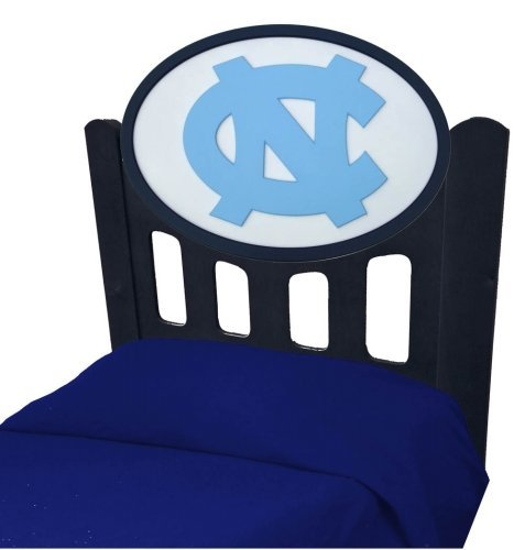 Image of North Carolina Tarheels UNC Kids Wooden Twin Headboard With Logo (C0526B-North Carolina)