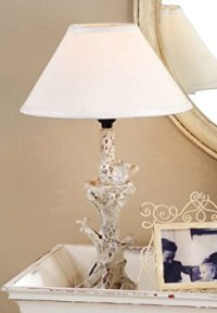 Bird Branch Tree Table Lamp - White Antique - Bedside ...