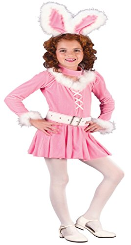 Girls Bunny Honey Kids Child Fancy Dress Party Halloween Costume, L (12-14)