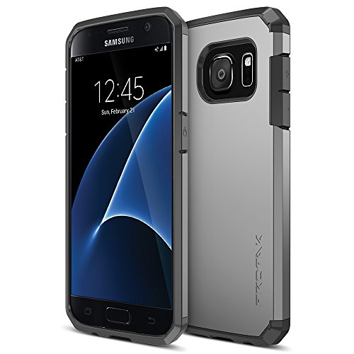 Galaxy-S7-Case-Trianium-Protak-Series-Ultra-Protective-Cover-Case-for-Samsung-Galaxy-S7-Gunmetal-Gray-Dual-Layer-Shock-Absorbing-Bumper-Hard-Case-Lifetime-Warranty