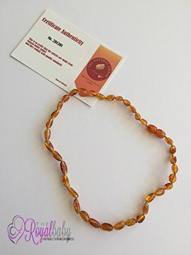 Baltic Amber Teething Necklace For Babies 33cm Natural