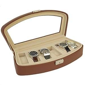 Amazoncom Tech Swiss Ts563brn Watch Box Storage Case For