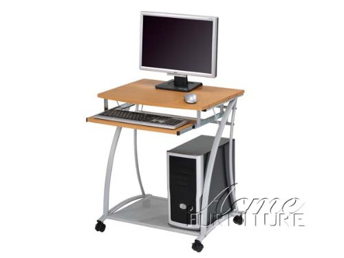 Picture of Comfortable Computer Desk with Wood Top Acs000116 (B004SZ9VUS) (Computer Desks)