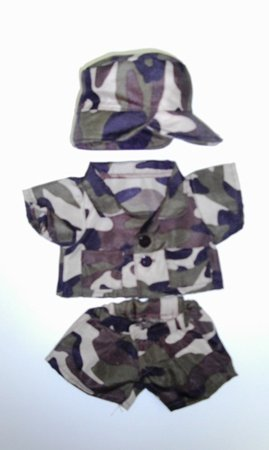 "Army Camos Uniform Clothing Fits 8""-10"" Most Webkinz, Shining Star and 8""-10"" Make Your Own Stuffed Animals and Build-a-bear"