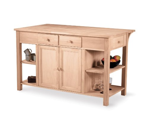Image of Super Kitchen Island with Counter (WC-6034AB)