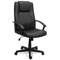 XtremepowerUS PU Leather Executive Office Desk Task ...
