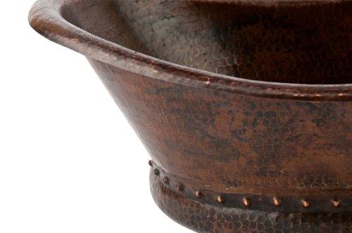 Premier Copper Products Vbt20db Bath Tub Vessel Hammered