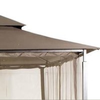 Garden Winds Replacement Canopy for Harbor Gazebo Home