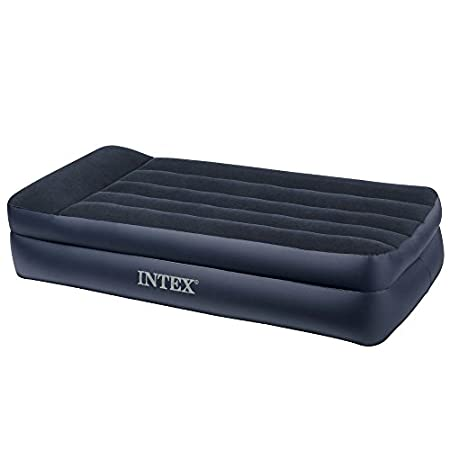 Offering all the benefits of the Intex Raised Downy airbed but with the added advantage of lighter weight and mid-rise height, the Intex Pillow Rest inflatable airbed is ideal for travelers who want the comforts of a bed but the convenience of a blow...