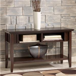 Image of Metro Modern Sofa Console Table Accent Dark Brown Finish (T160-4)