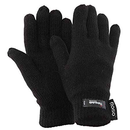 Womens thermal gloves with Thinsulate. Fiber contents for outer 100% acrylic, inner 65% polypropylene and 35% polyester.