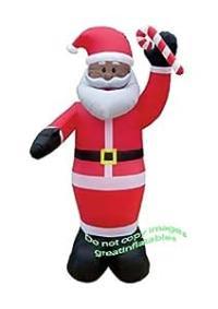 Amazon.com : CHRISTMAS INFLATABLE 8' AFRICAN AMERICAN ...