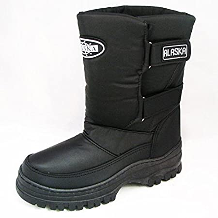 Stay warm and dry this winter with these great looking boots. Easy slip on with velcro strap allows you a customized, comfortable fit. The bottom sole provides great traction against slippery surfaces. Excellent for skiing, hunting and all outdoor co...