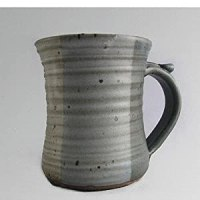 Amazon.com: Large pottery stoneware coffee mug - neutral ...