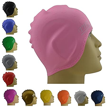 Guaranteed to go Through Water, Snow or Mud - or we Pull the Plug! The Best Swim Caps to Improve and Protect - One size fits all with a beautiful stylish design - Long lasting and durable, using premium quality 100% silicone materials - Highly el...
