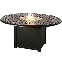 Amazon.com: Darlee Propane Fire Pit Dining Table - Mocha ...