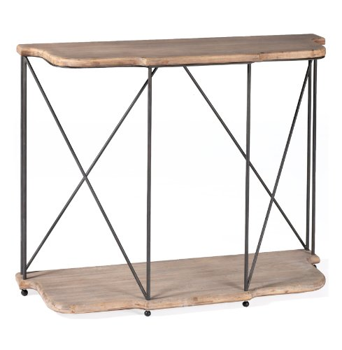 Image of Meghan French Rustic Bleached Oak Console Table (SCH-220280)