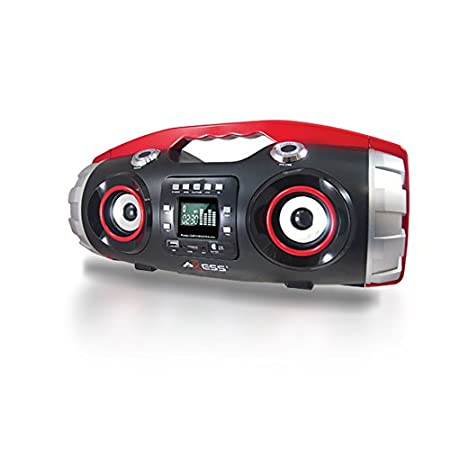 The Axess PBBT2709 is the perfect portable boom box. It can stream your music wirelessly through Bluetooth technology. You can also plug in you other media devices using the USB or AUX ports. This way you can listen to anything you want. It has a con...