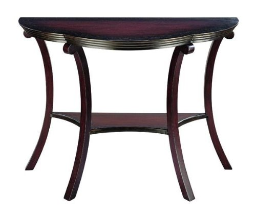 Image of Beveled Console Sofa Table with Storage Shelf - Cherry (VF_CN-HF2644)