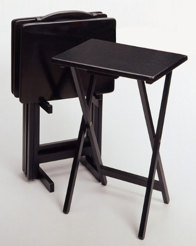 Image of 5 Piece Tv Table Set With Stand In Black (AZ32-19000)