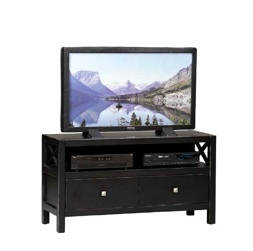 Image of Linon Home Decor 86106C124-01-KD-U Anna Media Center TV Stand, (86106C124-01-KD-U)