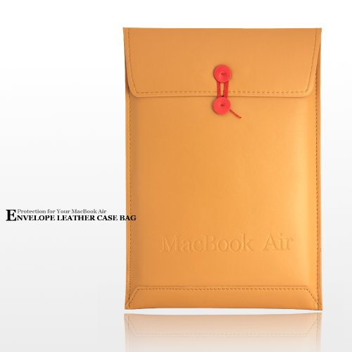 Light TAN 新MacBook Air13インチ用 Envelope Leather Case Bag ブラウン