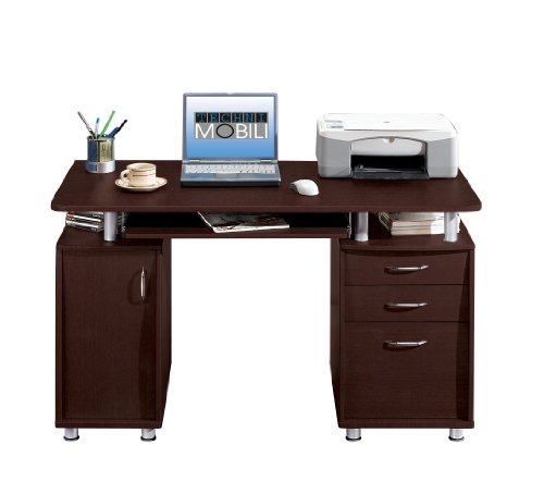 Picture of Comfortable Mad Tech 30x24x48 Chocolate 100% Mdf Construction Computer Office Desk Table (B004W0MGU6) (Computer Desks)