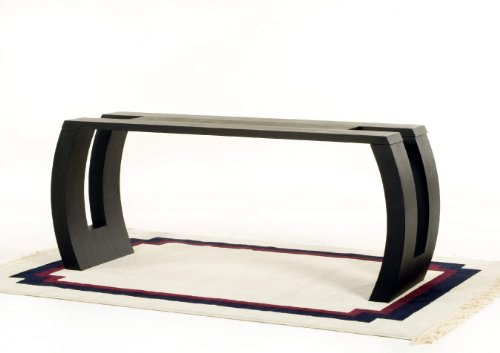 Image of Low Profile Rectangle Console Table with Hand Carved Detail (S0611)