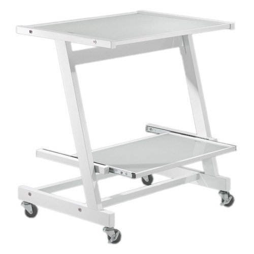 Picture of Comfortable Zeus Computer Cart (White) (28.74