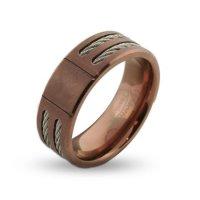 Rose Gold Ring: Mens Rose Gold Ring Band