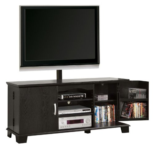 Image of TV Stand Console with Media Storage in Black Finish (AZ00-75532x32321)