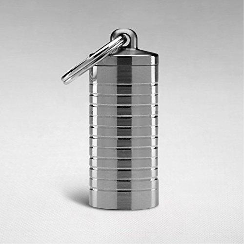 Large Stainless Steel Keychain Pill Holder Nitro
