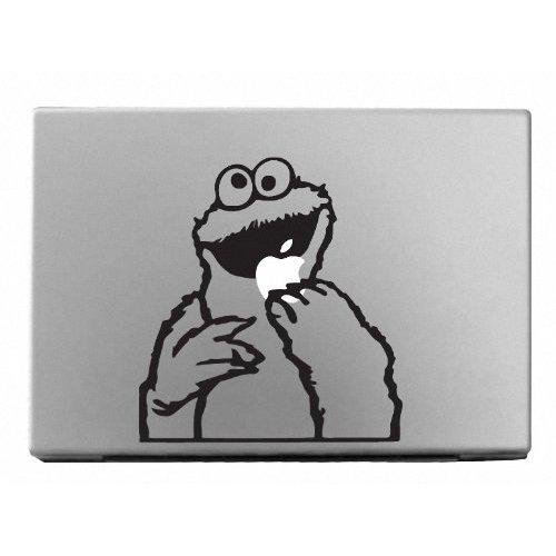MacBook 対応 アートステッカー☆ - Cookie Monster - 【 並行輸入品 】