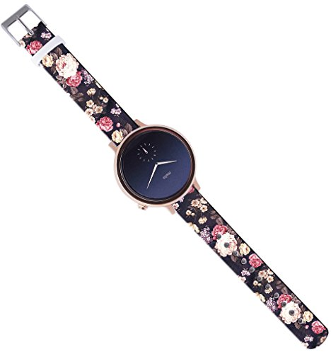 Moto-360-2nd-Gen-Band-Women16Mm-Watch-Strap-Band-Leather-Moto-360-2nd-Gen-42Mm-Women-Version-Replacement-with-Quick-Release-Pins-Luxury-Colorful-Floral-Flower-Texture