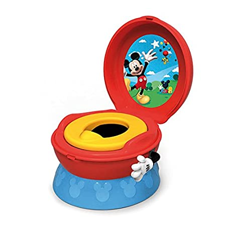 The First Years Disney 3 in 1 Celebration Potty System featuring Mickey Mouse is perfect for your potty training toddler. Your child can receive positive reinforcement with the hip hip hooray sound flushing arm. The 3 in 1 system is versatile and can...