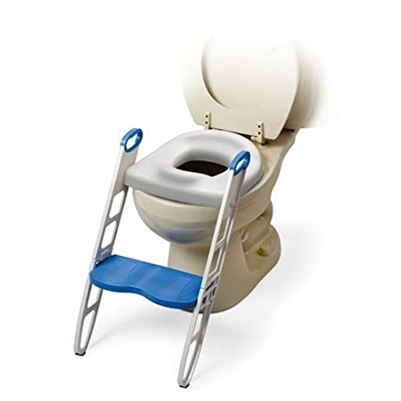 Mommys Helper Contoured Cushie Step Up Padded Potty Seat with Step Stool is the perfect potty training tool!  This ergonomically thickly cushioned contoured seat with built in deflector and specially molded non slip handles provide the ultimate comfo...