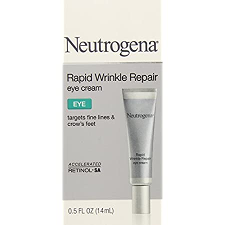 Neutrogena Rapid Wrinkle Repair Eye Cream works quickly with visible results in just one week!  By combining a unique combination of Retinol Sa, Glucose Complex, and Hyaluronic Acid, Rapid Wrinkle Repair Eye Cream moisturizes and renews the look of s...