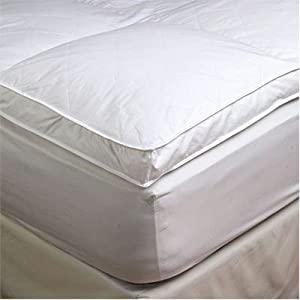 2quot King 78quot X 80quot Goose Down Mattress Topper Featherbed