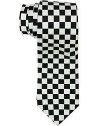 Amazon.com: Black and White Checkered Skinny Tie: Clothing