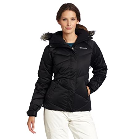 The ultimate in alpine chic, this ultra-warm women's winter coat blends 550-fill-power goose down and an Omni-Heat thermal reflective lining, which reflects your body heat for extra warmth while allowing for breathability. A powder skirt, underarm ve...