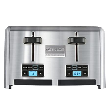 Introducing the stylish stainless-steel Frigidaire Professional™ 4-Slice Wide Slots Toaster.  Created for the at-home kitchen professional, this straightforward, no-fuss design features 4 wide a unique Countdown Indicator, so you know when your toast...