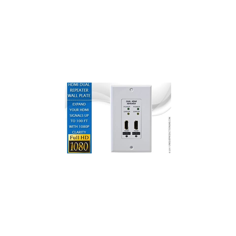 Hdmi Outlet Hdmi Repeater Wall Plate Dual Outlet For 2 Seperate Hdmi Cables On