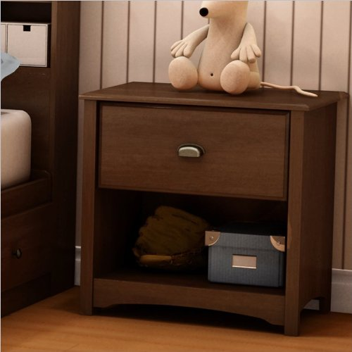 Image of South Shore Nathan Kids Contemporary Wood Nightstand in Sumptuous Cherry Finish (B004CHRVN6)
