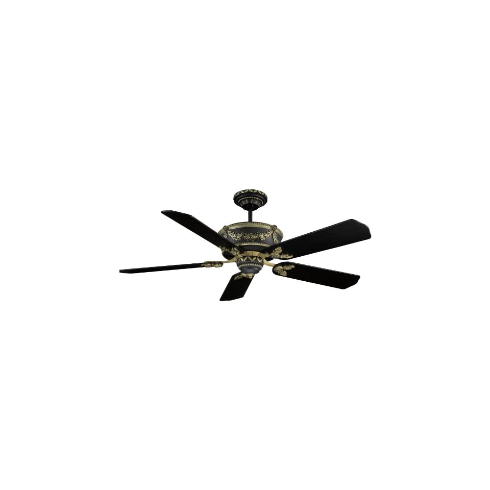 Black And Gold Ceiling Fan Ellington Bar52mbag5rcd Baroque 52 In Indoor Ceiling Fan Matte