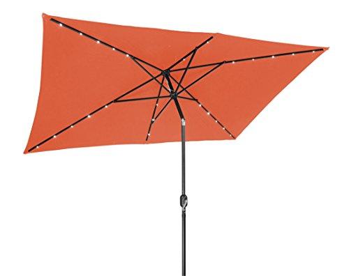 1039 Acrylic Led Patio Umbrella Solar Powered With