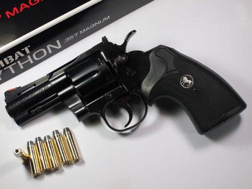 コクサイ 発火モデルガン コルトコンバットパイソン 3インチ スタンダードモデル No.336