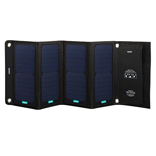AUKEY Pannello Solare 28W con 2 Porte USB di Ricarica