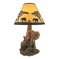 Elephant Mother And Child Table Lamp Silhouette Shade ...