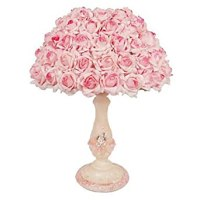 40W Table Lamp with Pink Roses on the Shade: Amazon.co.uk ...